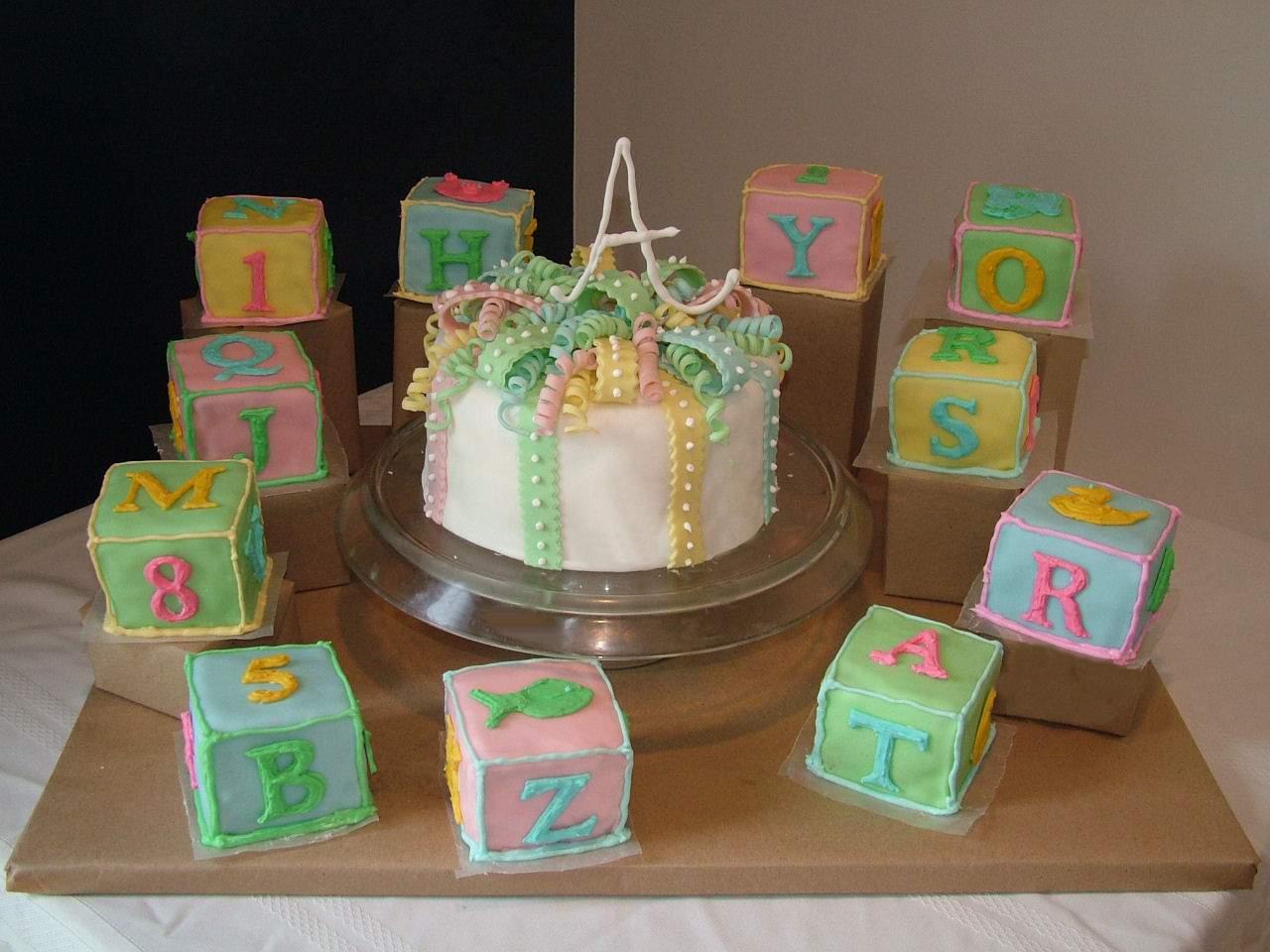 simply FOuR us: Baby Blocks Cakes