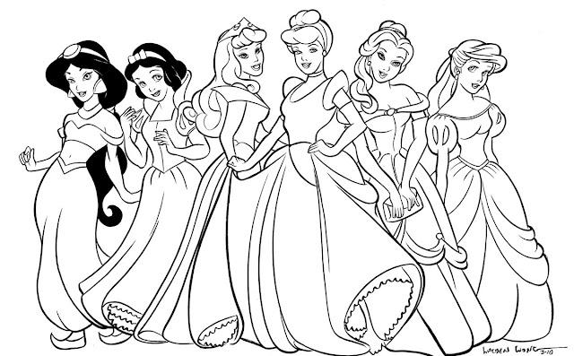dibujos las princesas: