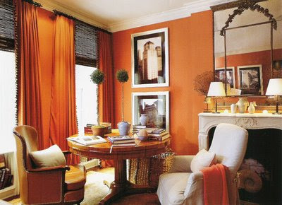 home interior design and decorating ideas warm with orange home