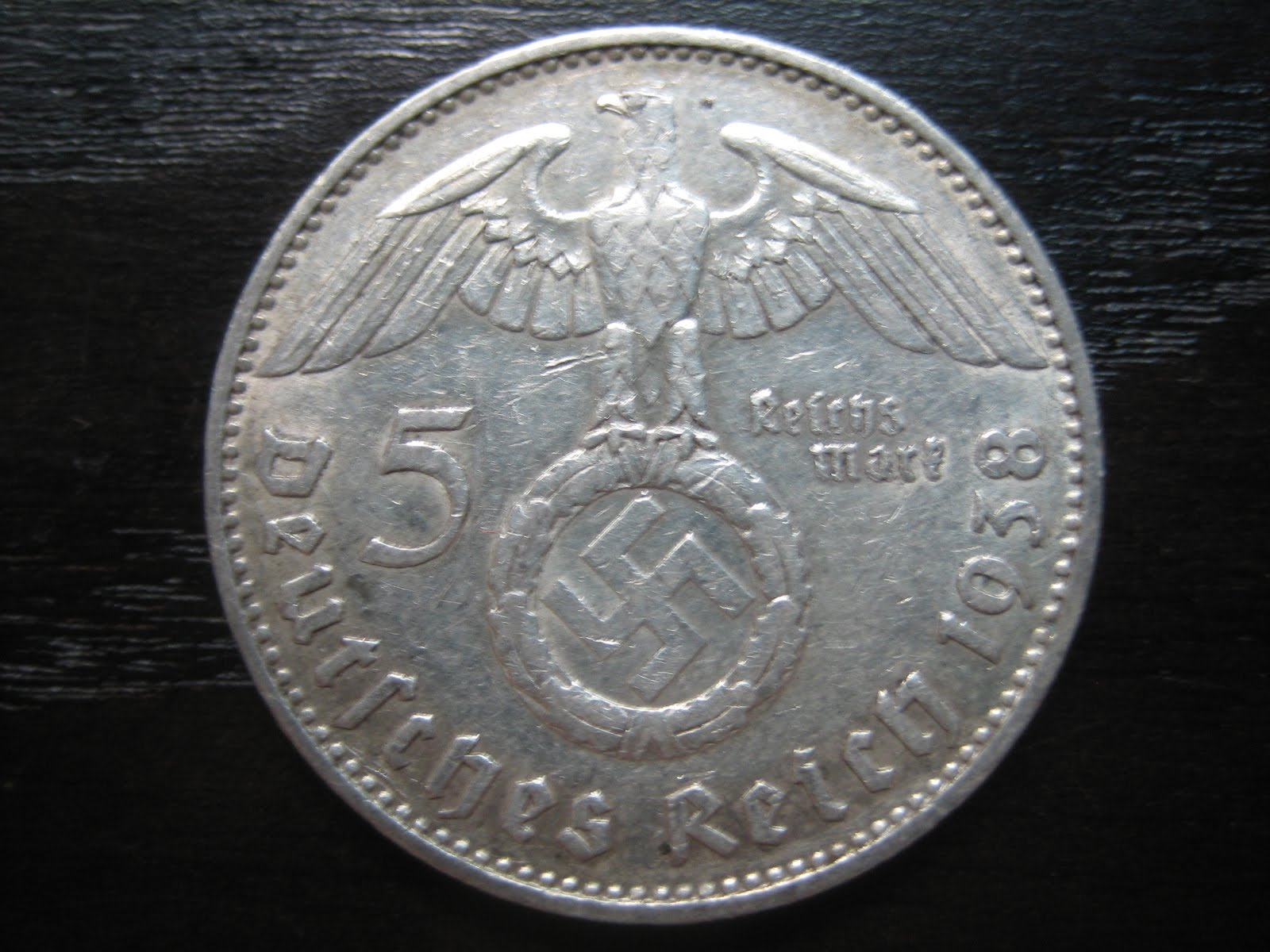 Numismatic Collection 1938 Third Reich Silver Reichmark