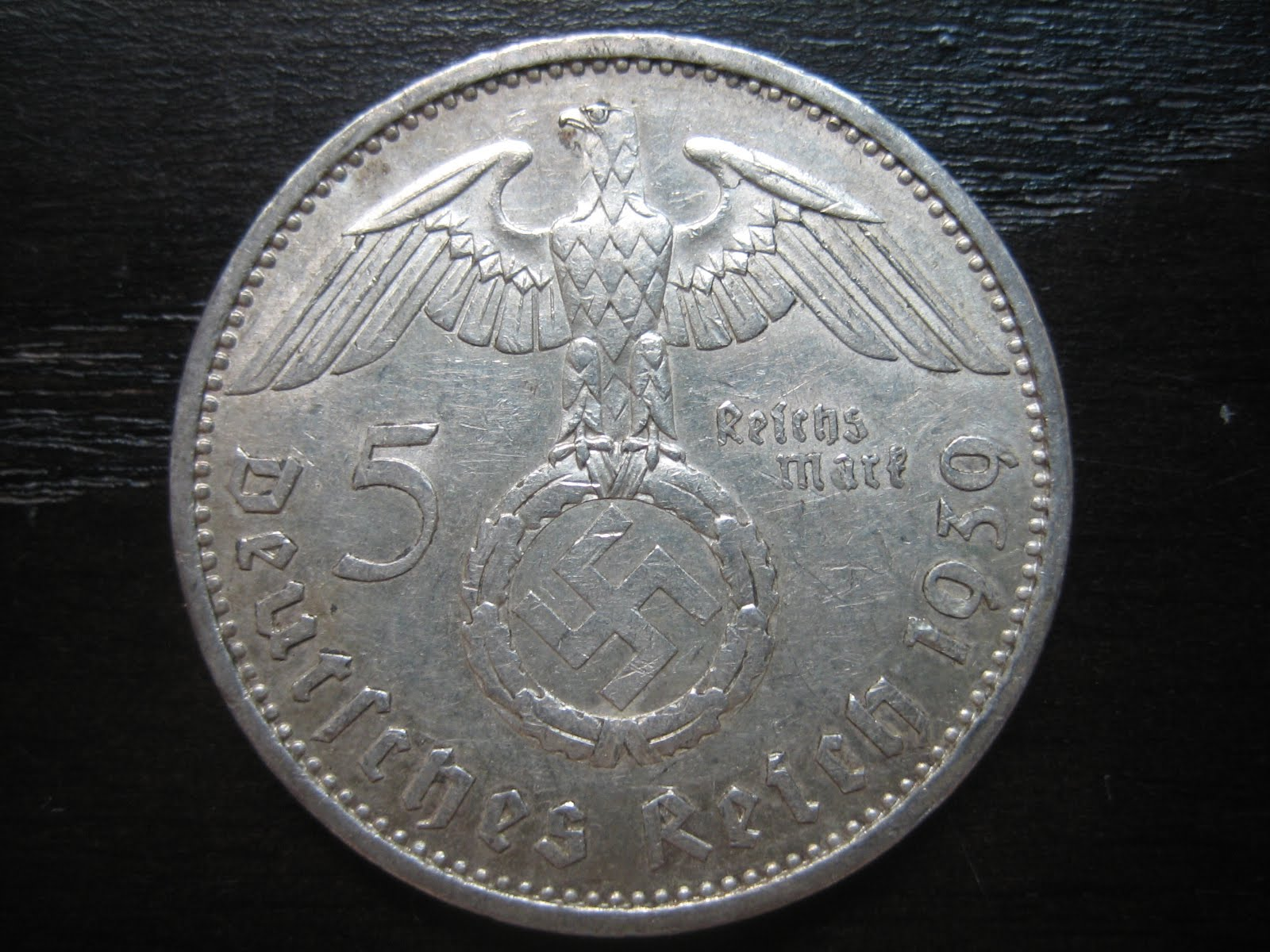 Numismatic Collection 1939 Third Reich Silver Reichmark