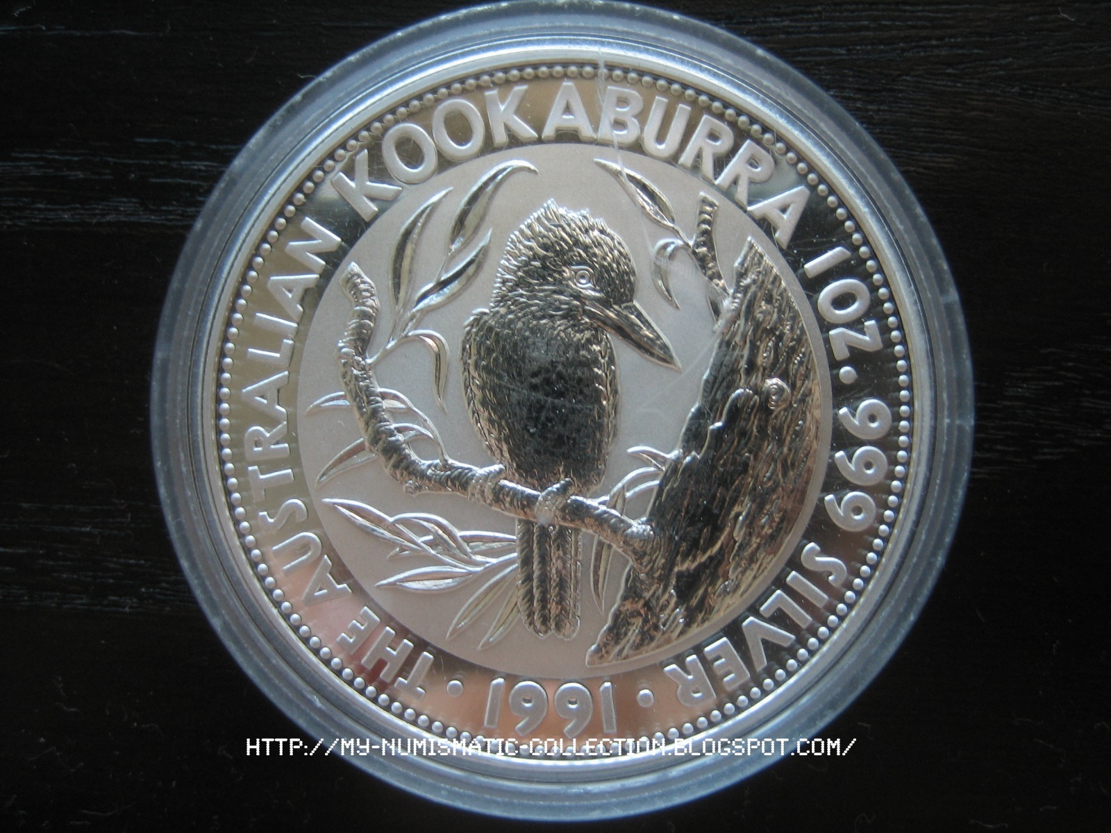 Numismatic Collection 1991 Australian Silver Kookaburra