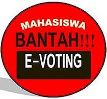 MAHASISWA BANTAH E-VOTING