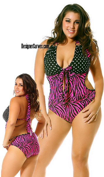 Every plus size woman wants to look good on the beach or at the pool, ...