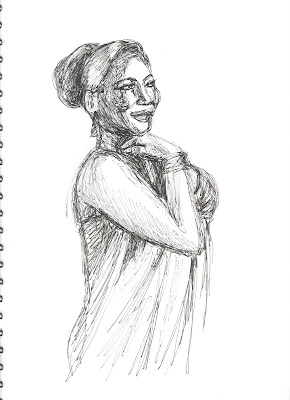 Liz Blair's sketch of Queen Latifah
