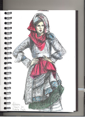 Liz Blair's sketch of Alabama Chanin design