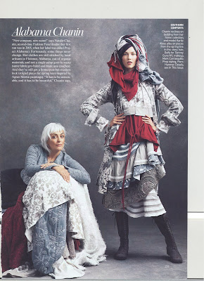 Picture of Natslie Chanin and design from Vogue