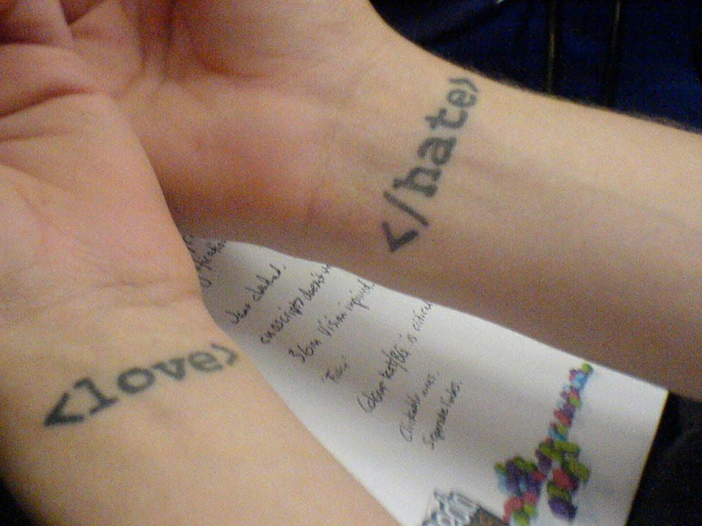 o love you tattoo