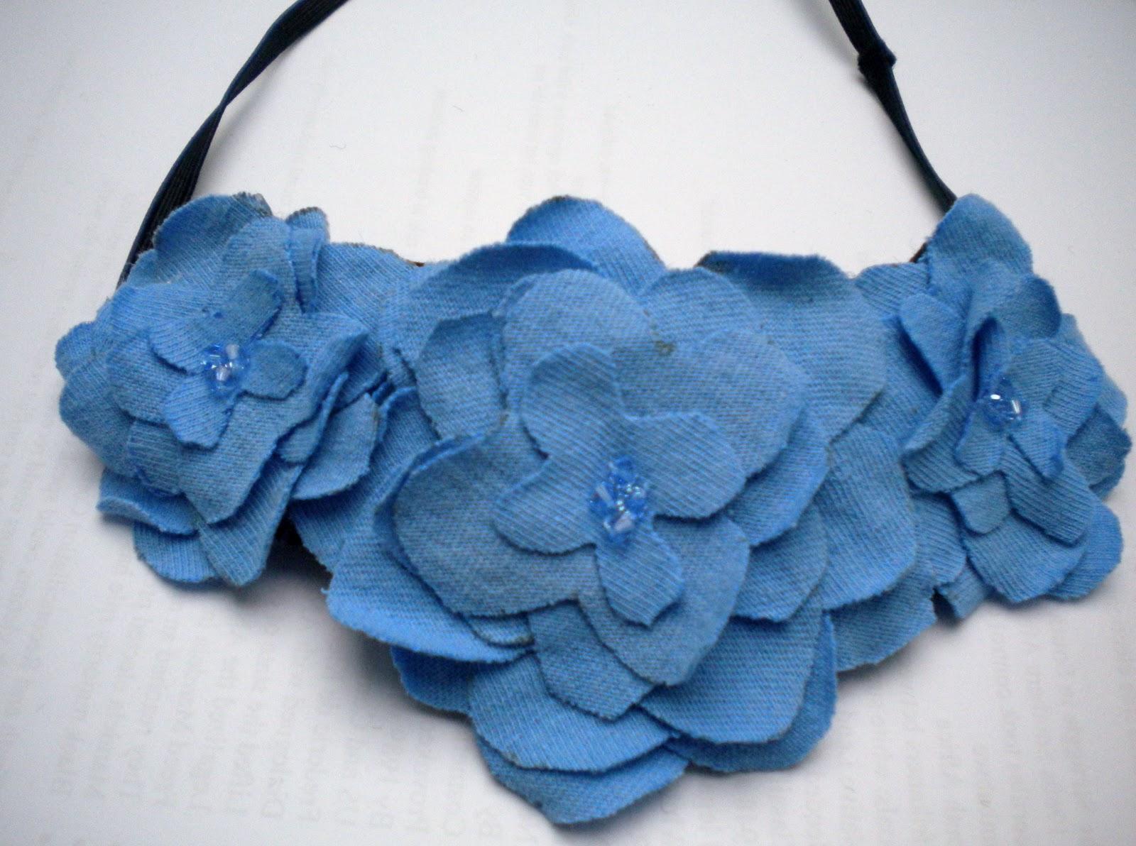 Ugly T Shirt Flower Headband Tutorial My Girlish Whims
