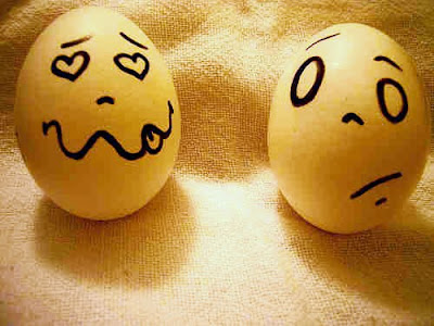 pictures of eggs with faces