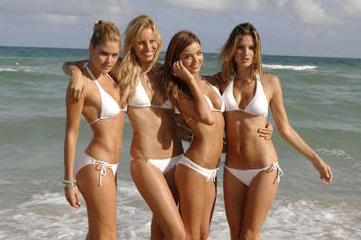 victorias secret beach bikini girls
