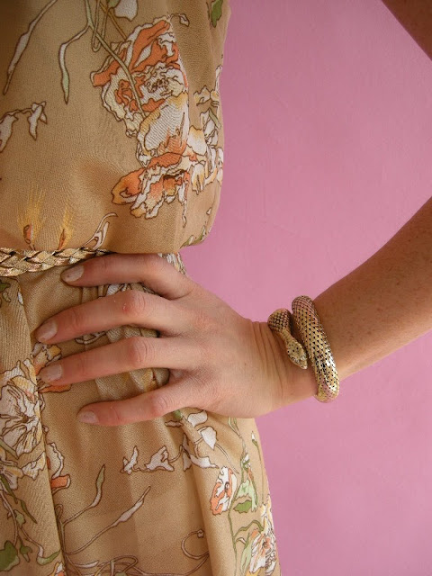 WIN THIS! Vintage 70s Snake Bracelet Blog Giveaway Contest