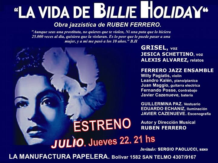 .LA VIDA DE BILLIE HOLIDAY - Obra del músico RUBEN FERRERO