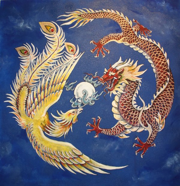 in china the dragon and the phoenix are traditional animals symbolic ...
