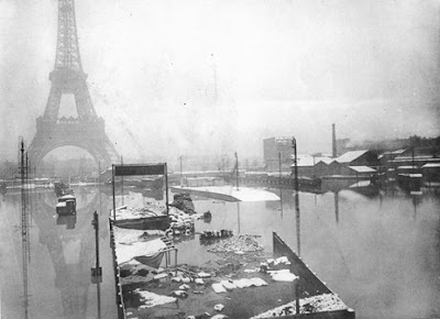 Paris inondé et désertique