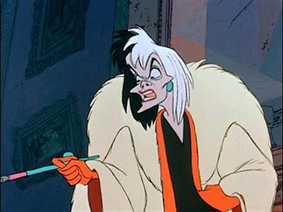 круэлла де виль, 101 далматинец, страшные персонажи из мультфильмов, страшные мультики