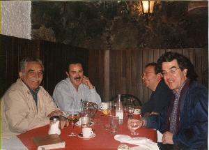 GARCIA MARQUEZ, FERNANDO HERRERA, WILLIAM OSPINA Y EDUARDO GARCIA AGUILAR EN COYOACAN