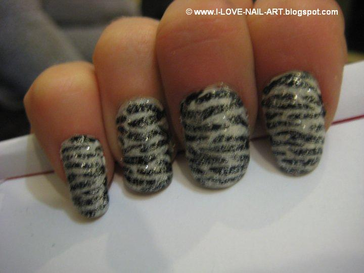 Zebra Print Nails and Toes