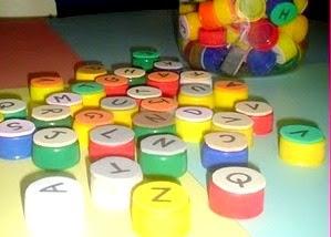 Blog de cmc-artes : Cmc-artes / Bem-vindos ao meu blog, com carinho: Cintia, Alfabeto móvel com tampinhas de garrafa pet...