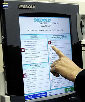 90% Of Tonights Votes To Be Counted By Diebold Electronic Voting Machines    diebold%2Bvoting%2Bmachine