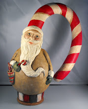 Candy cane Santa Gourd