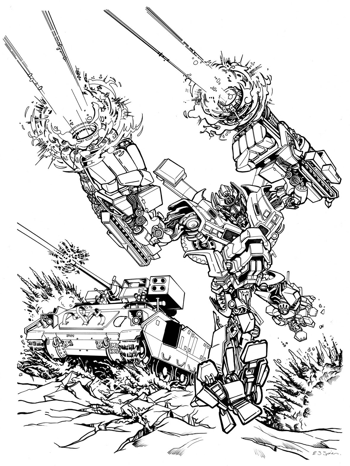 Ironhide transformers pages coloring pages for Ironhide coloring pages