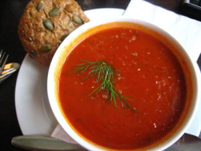 sopa de tomate - foto
