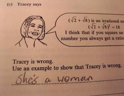 Tracy está errada. Ela é uma mulher.