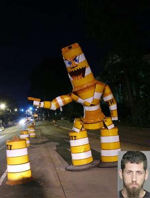 monstro de sinalização de transito