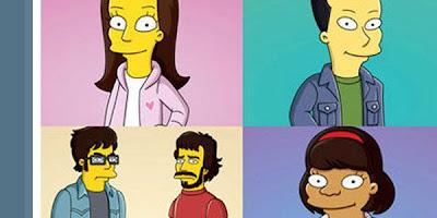 Elenco da Série Glee em cartoon