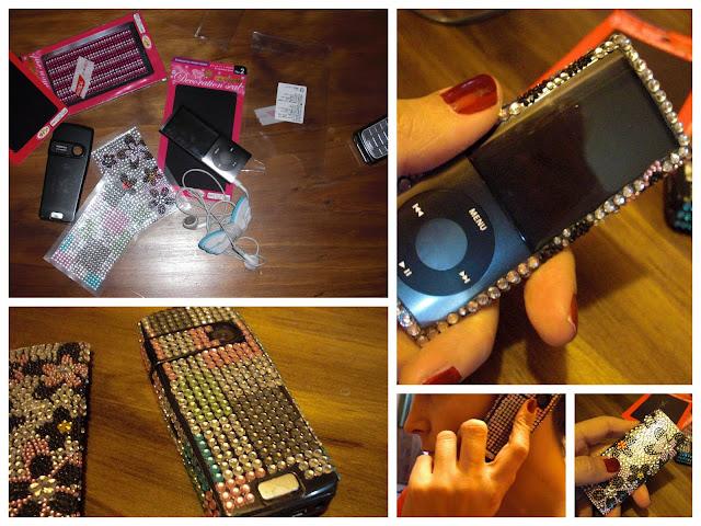 DIY Sparkly phone aprendiz de estilo
