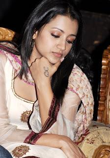 Trisha in Masakali Churidar Dress at Namo Venkatesa Press Meet