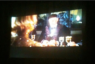 Watching The Golden Compass on our Projector