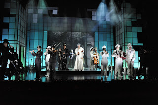 Chess The Musical with Musicians on Stage