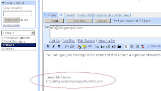 Select different Gmail Signatures for Replies or Composes