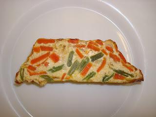 flan verduras zanahoria judias verdes pudin