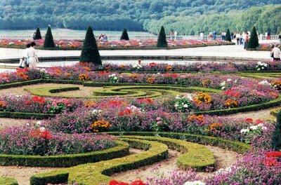 Taman bunga penuh dengan ion elektron