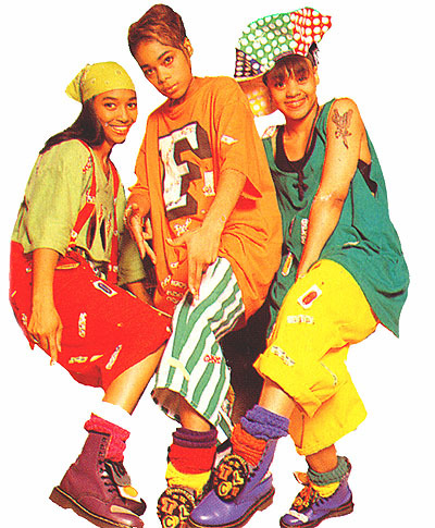 Fashions on Tlc  Known For The Bright Colors  Baggy Clothes And Lisa Left Eye