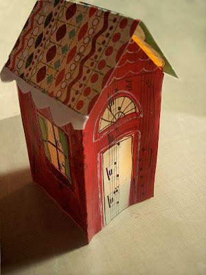 paper house tutorial10, karton ev resimleri