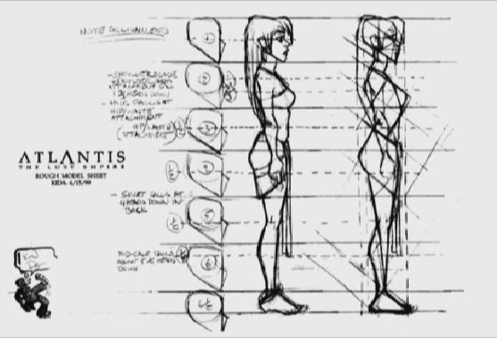 Disney Atlantis Character Design : Living lines library atlantis the lost empire