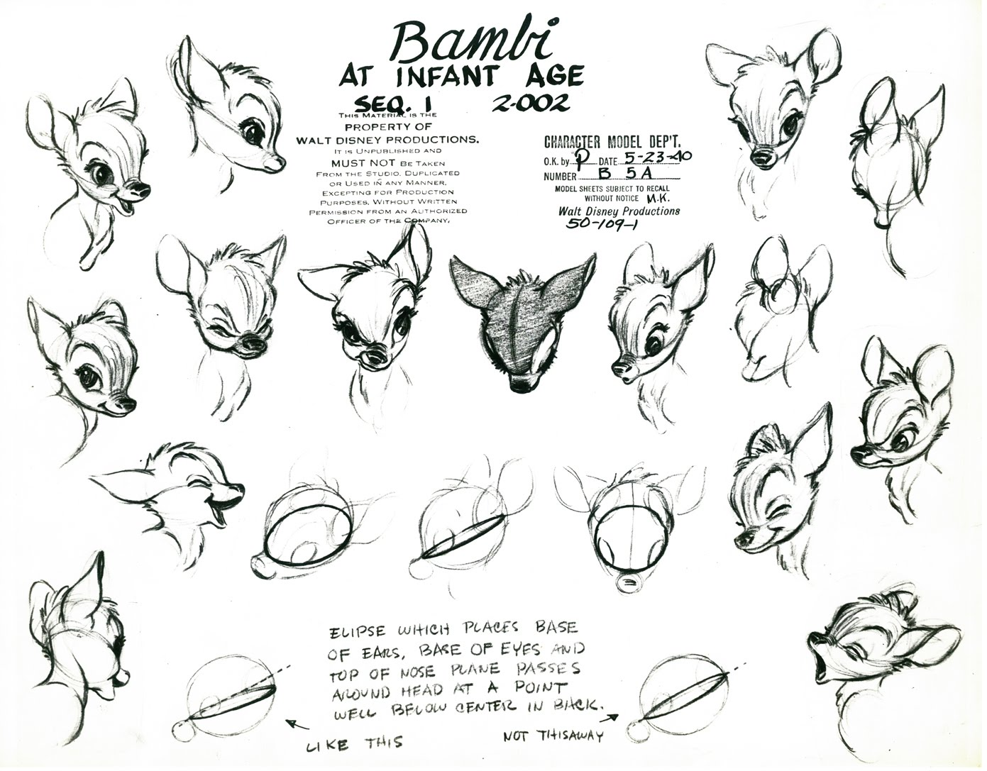 Living Lines Library Bambi 1942 Production Art