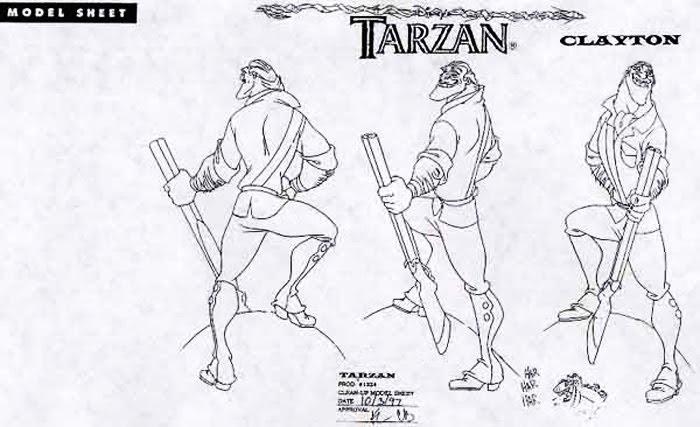 Disney Character Design Tarzan : Living lines library tarzan animals other