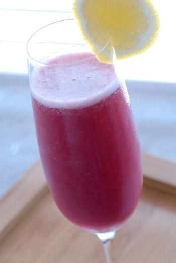 Pomegranate Blueberry Bellinis