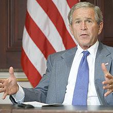 Bush implorando pelo Pacote