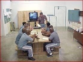 Presos esperando audiência por videoconferências
