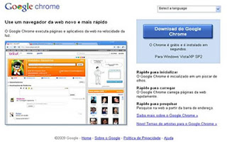 Página do Chrome mostrando um novo Orkut