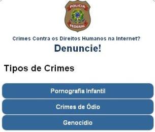 Site de denúncias online da PF