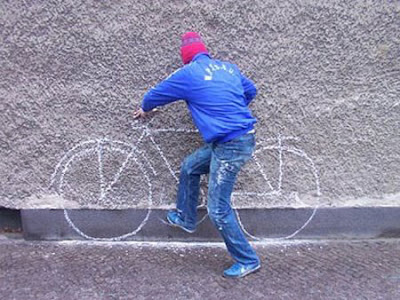 Amazing painting on wall optical illusion