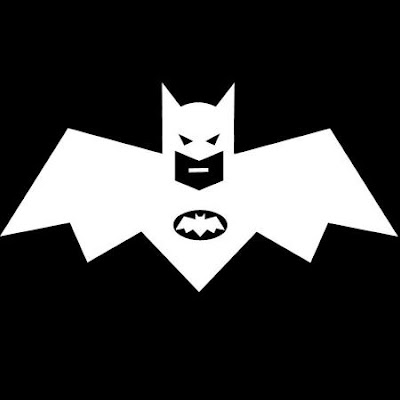 Batman appears on white surface afterimage illusion