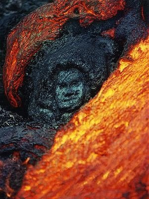 lava face illusion